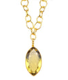 Oversized Lemon Citrine Pendant