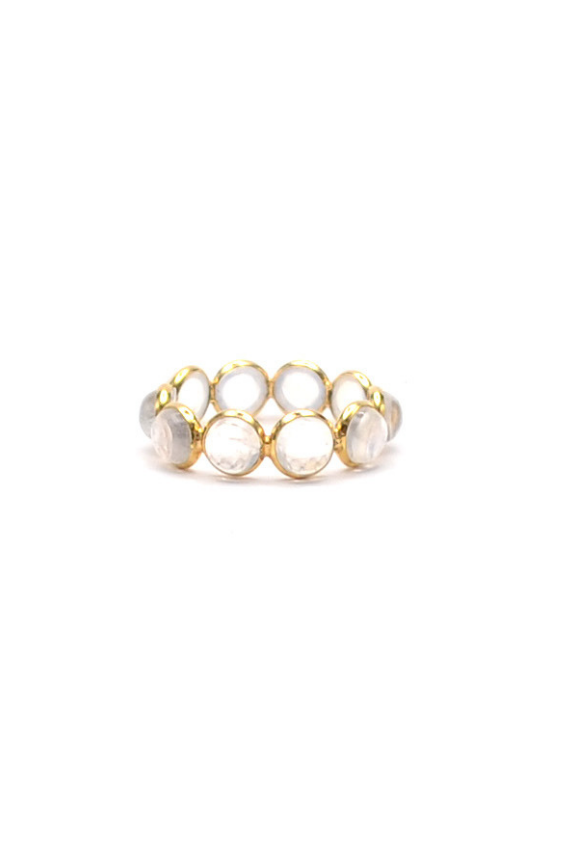 Moonstone Band Ring