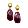 Faceted Ruby Earring