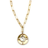 Hi-Shine Disc Pendant Necklace
