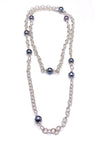 "Sterling Silver Pearl Accent 36"" Necklace"