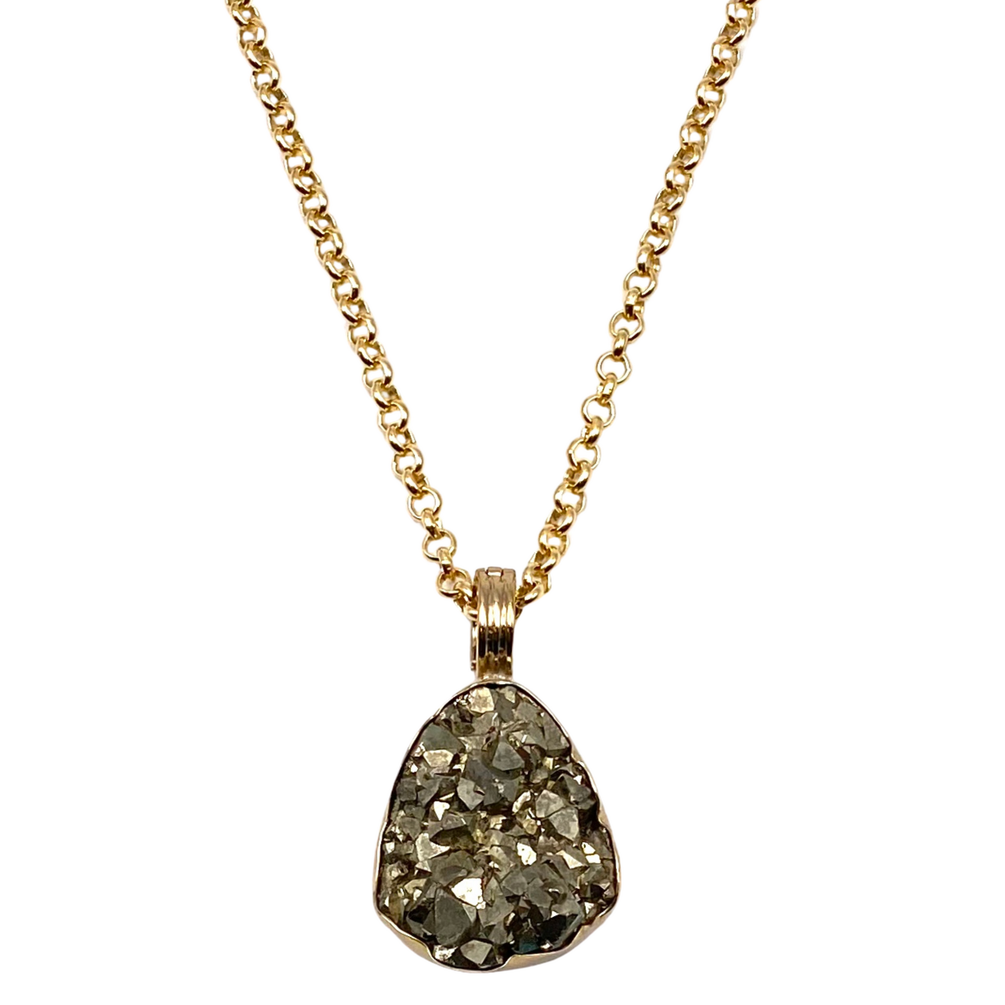 Peruvian Pyrite Pendant Necklace