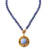 Tanzanite, Lace Agate and Garnet Necklace