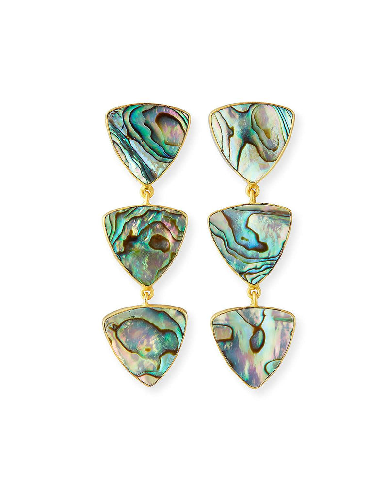 Abalone Triple Geo Earrings