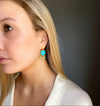 Model wearing Turquoise Chandelier Earring