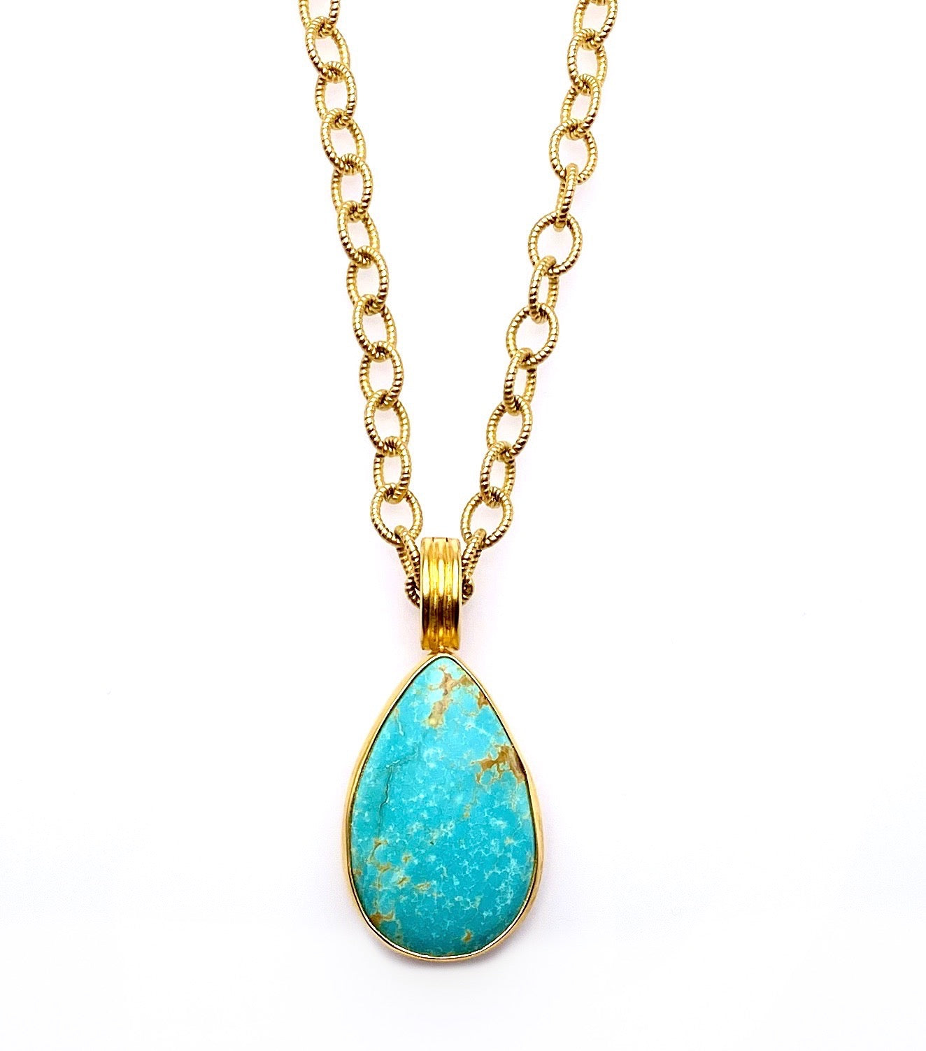 Natural Kingman Turquoise Pendant Enhancer