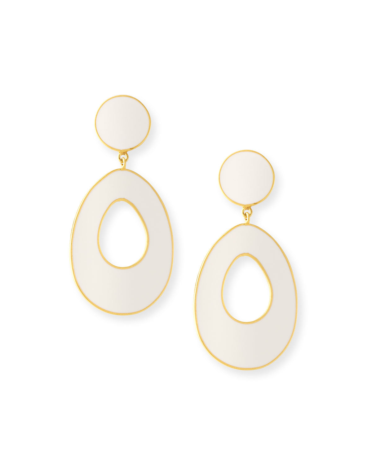 Bold Gold Enamel Earrings