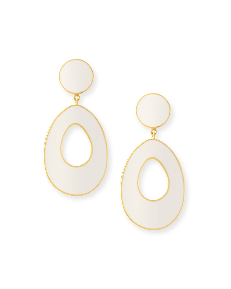 Bold Gold Ceramic Earrings