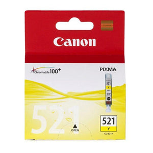 Genuine Canon CLI521 yellow ink cartridge