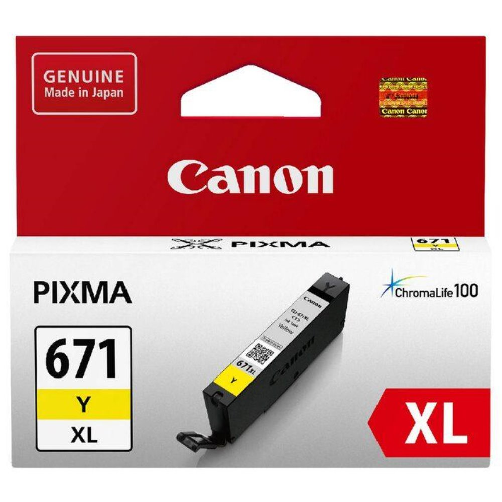 CLI671XL Canon genuine yellow ink