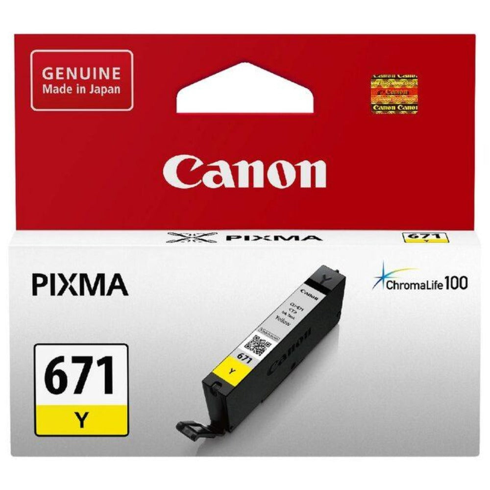 Canon CLI671 genuine yellow ink refill