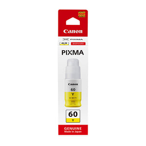 Canon GI60 genuine yellow refill ink bottle