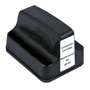 HP02 compatible black ink cartridge
