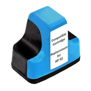 HP02 compatible cyan ink cartridge