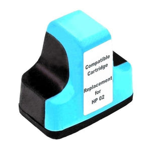 HP02 compatible light cyan ink cartridge