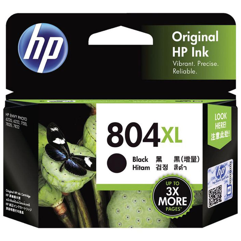 HP804XL Genuine Blackk Ink Cartridge