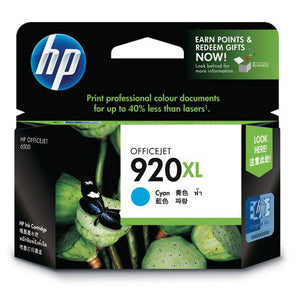 HP920XL Genuine Cyan Ink Cartridge