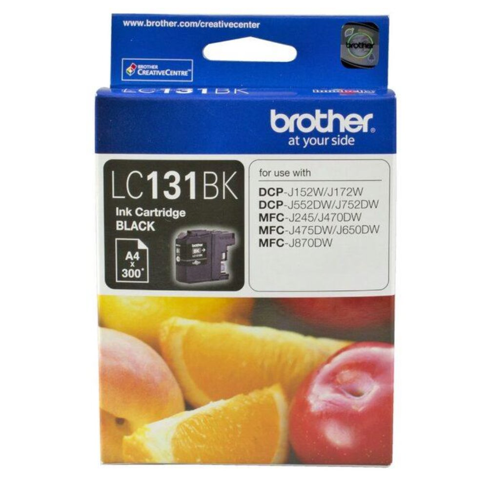 LC131 Genuine Brother Black Ink