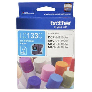Genuine LC133 Brother cyan ink refill