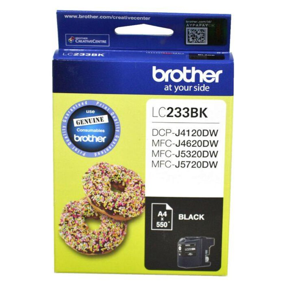 LC233 Brother genuine black ink