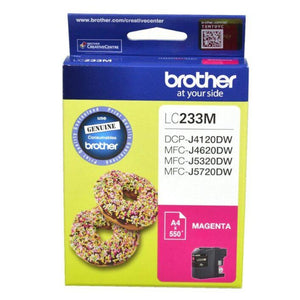 Genuine LC233 Brother magenta ink refill