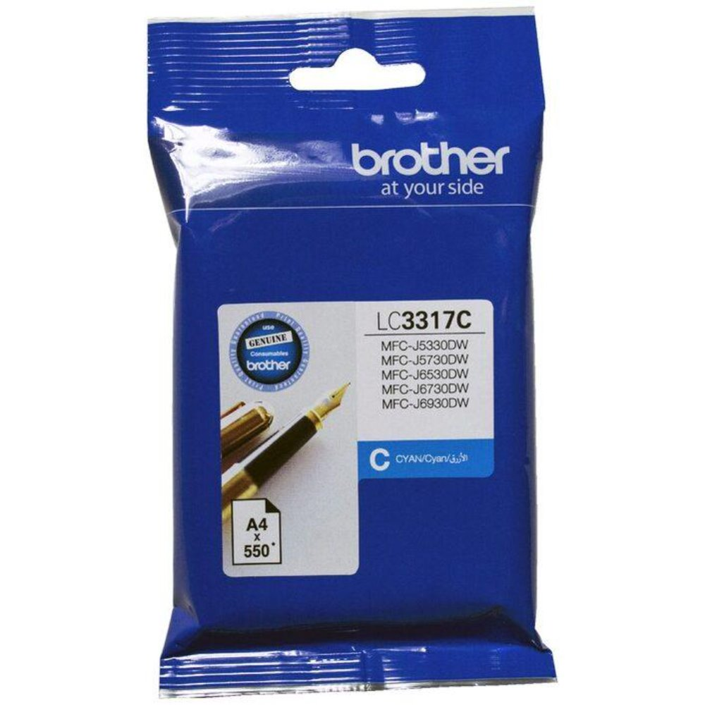 LC3317 Brother genuine cyan ink