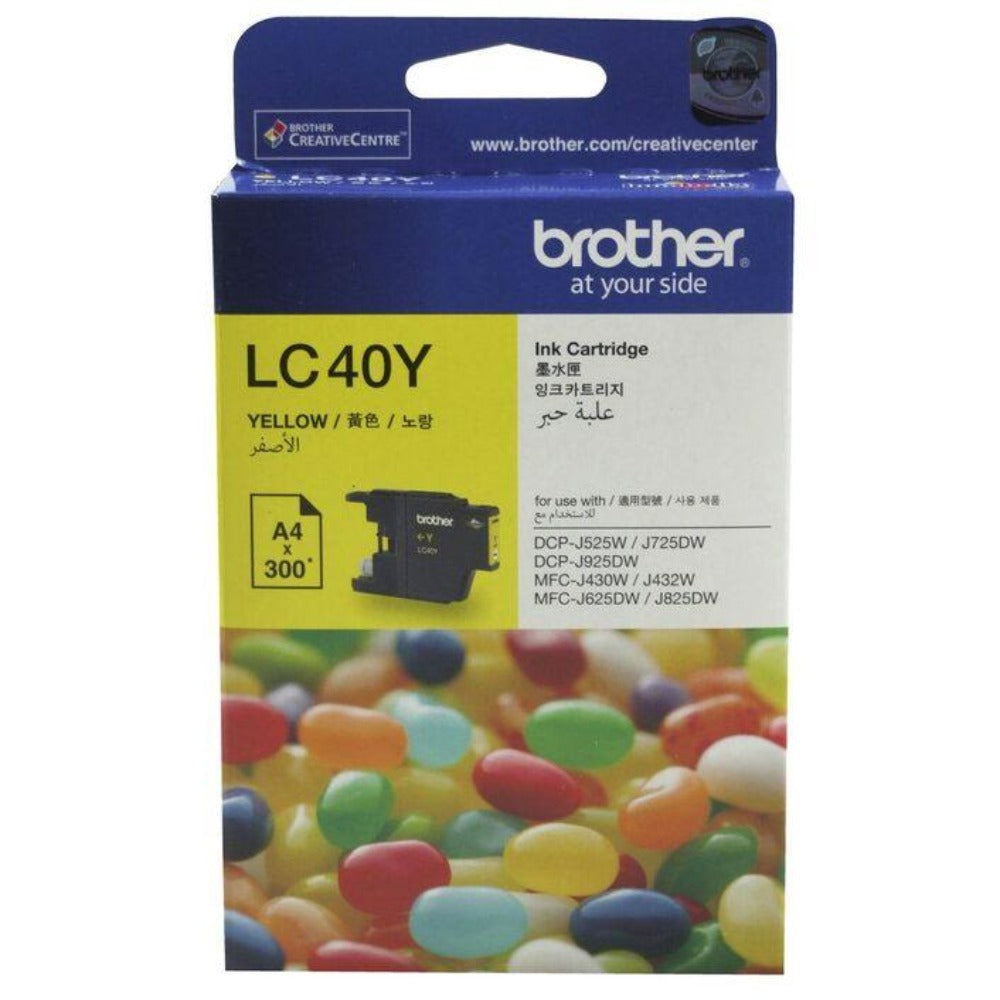 Genuine LC40 Brother yellow ink refill