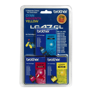 LC47 Brother genuine colour ink value pack