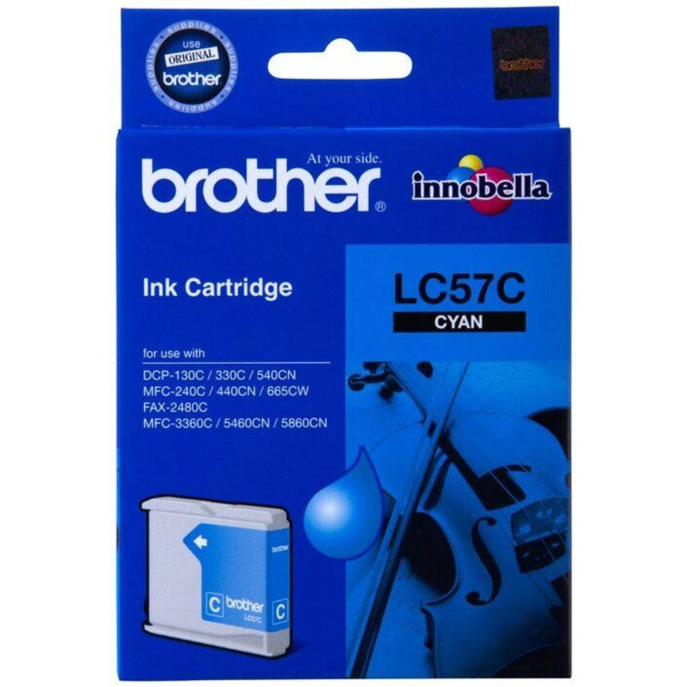 Genuine LC57 Brother cyan ink refill