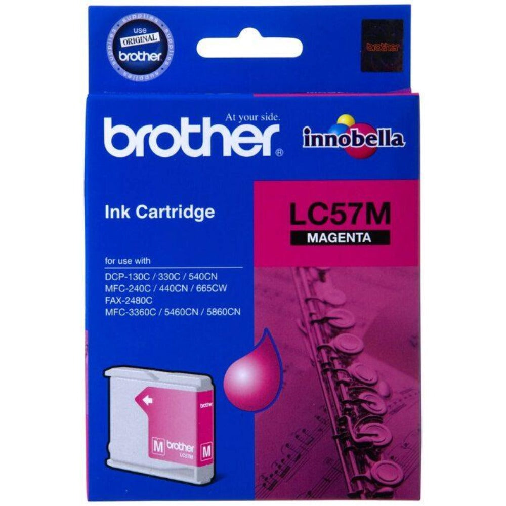 Genuine LC57 Brother magenta ink refill