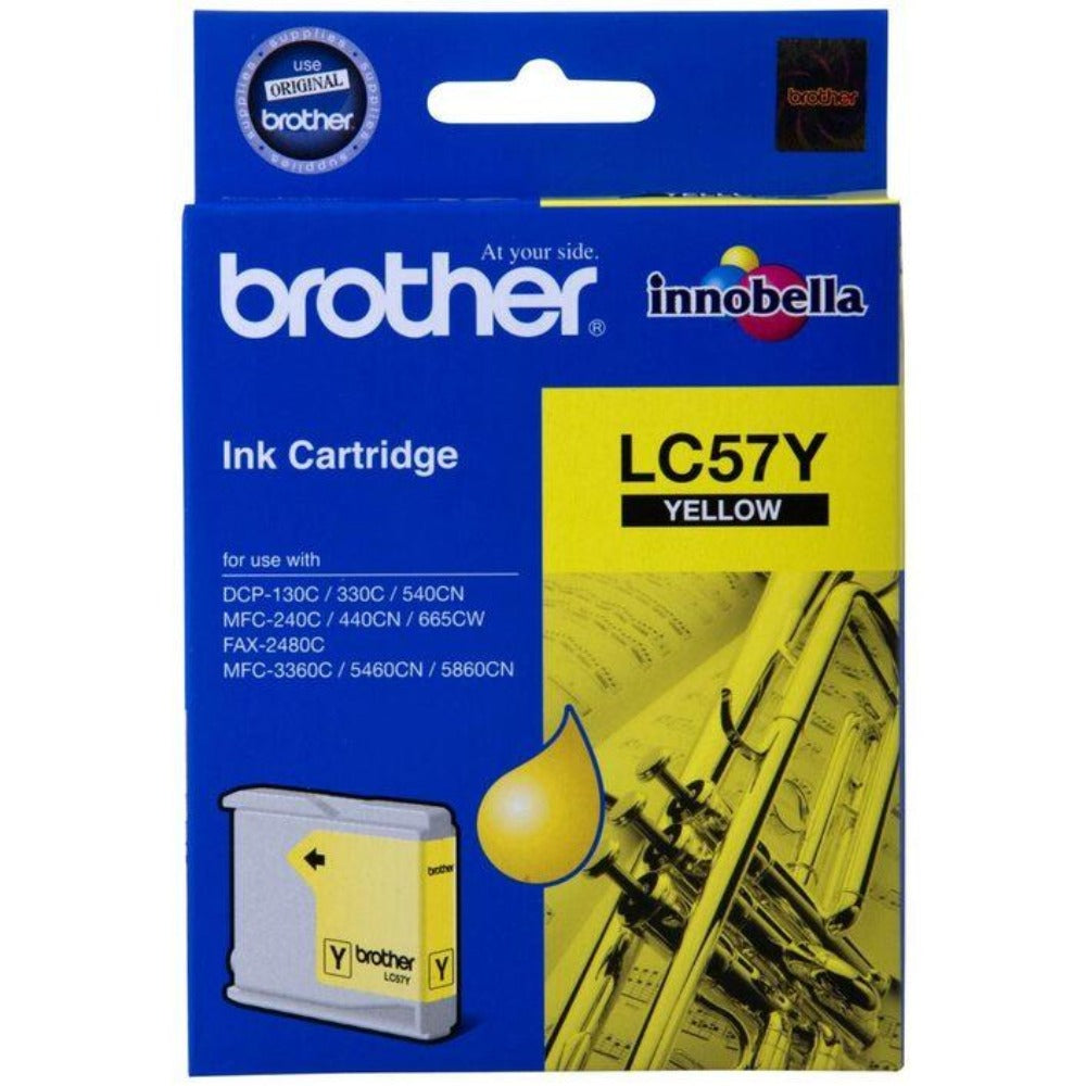Genuine LC57 Brother yellow ink refill