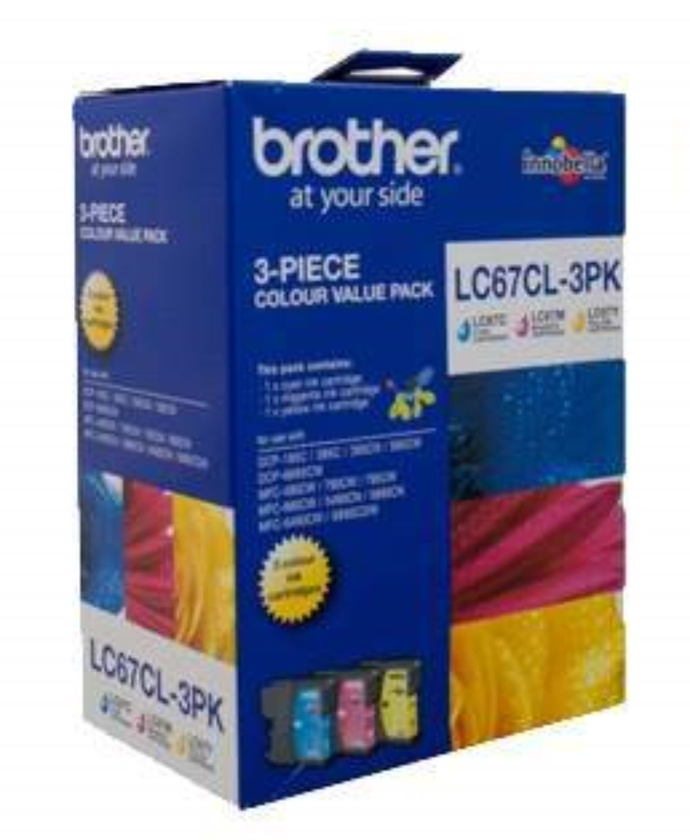 LC67CL-3PK Brother genuine high yield value pack