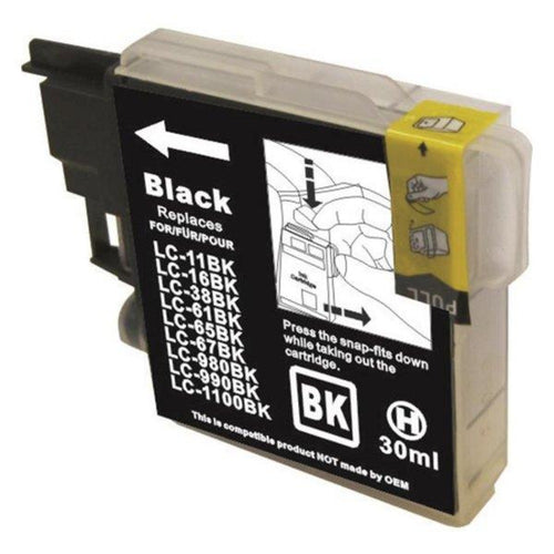 Brother LC67 compatible black ink cartridge