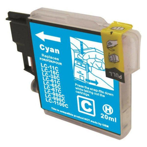 Brother LC67 compatible cyan ink cartridge