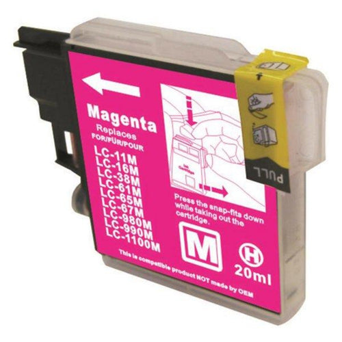 Brother LC67 compatible magenta ink cartridge