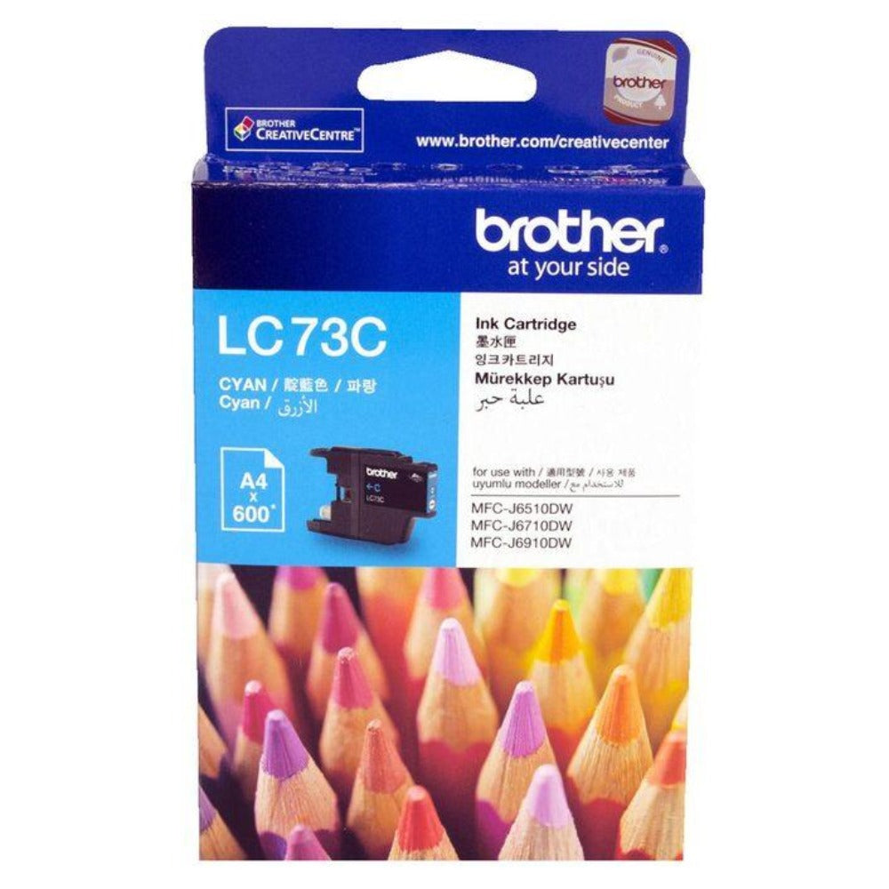 Genuine LC73 Brother cyan ink refill