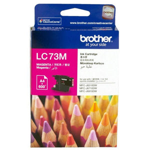 Genuine LC73 Brother magenta ink refill