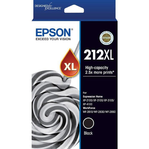 Genuine T212XL Epson black high yield ink