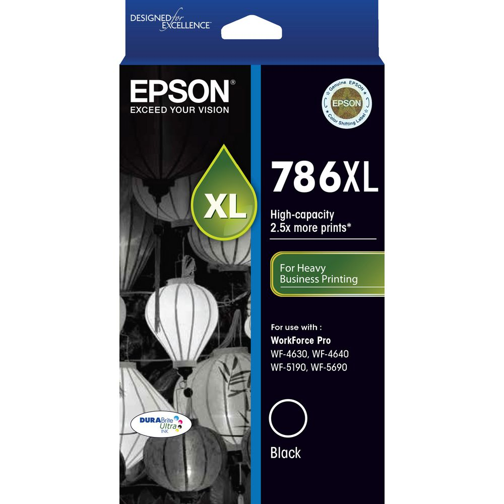 Epson genuine T786XL black ink