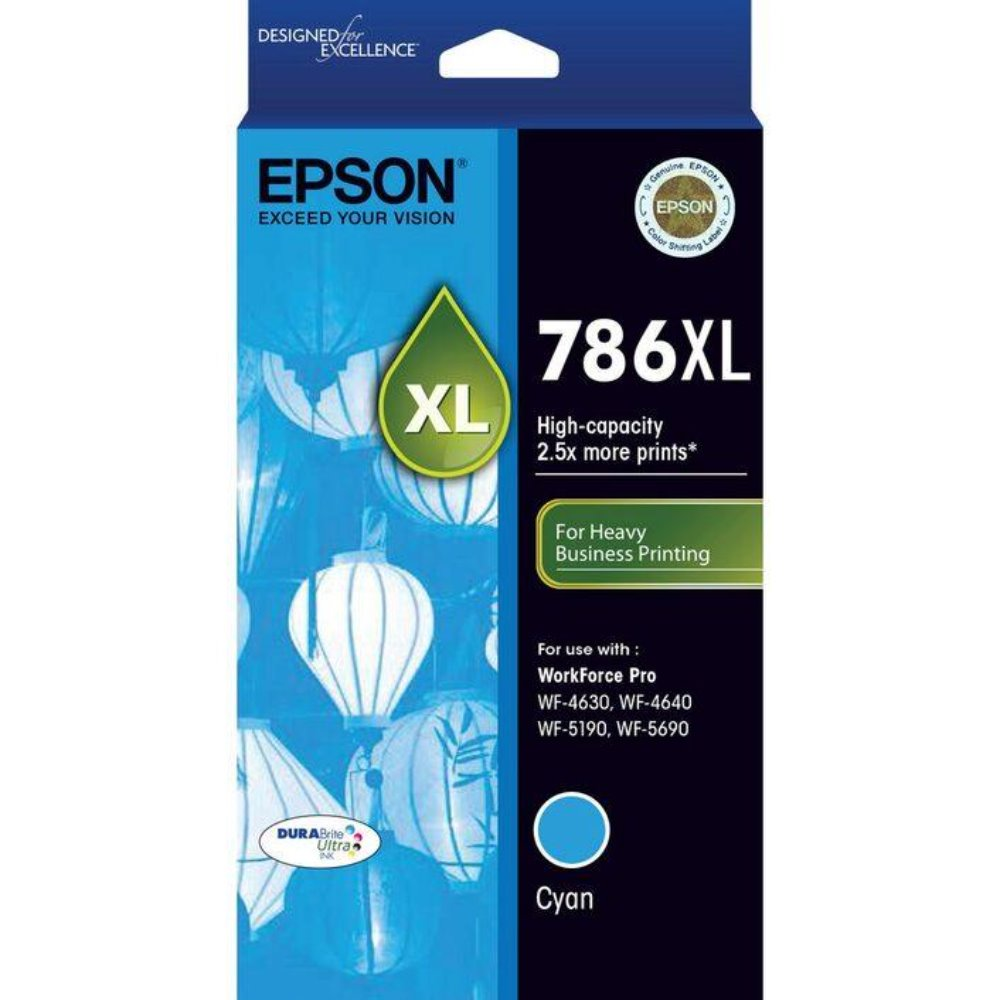 T786XL Epson Genuine Cyan Ink