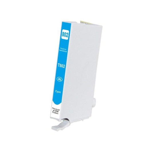 Epson T802XL compatible cyan ink cartridge