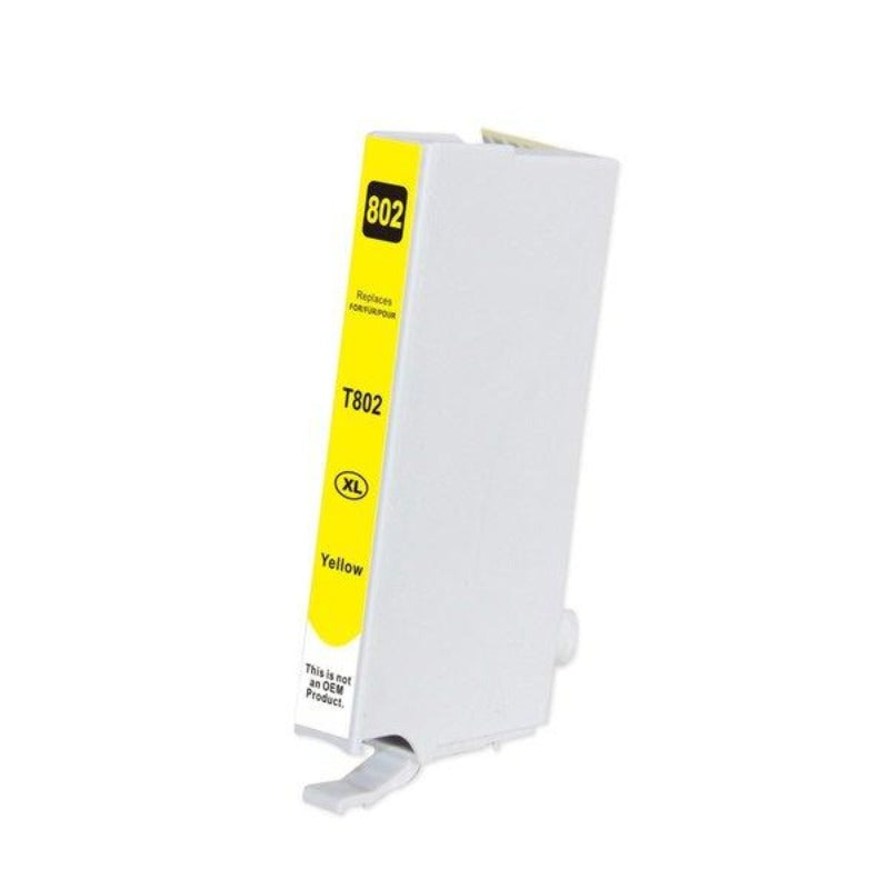 Epson T802XL compatible yellow ink cartridge