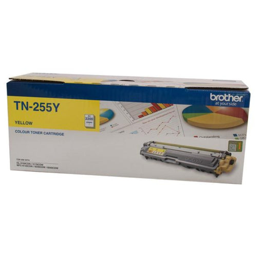 TN255 Brother genuine yellow toner
