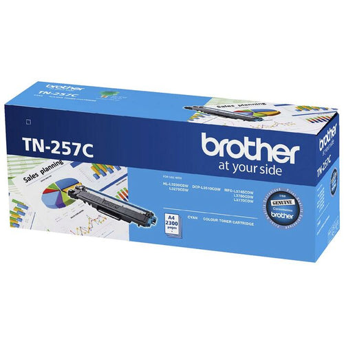 TN257 genuine Brother cyan toner