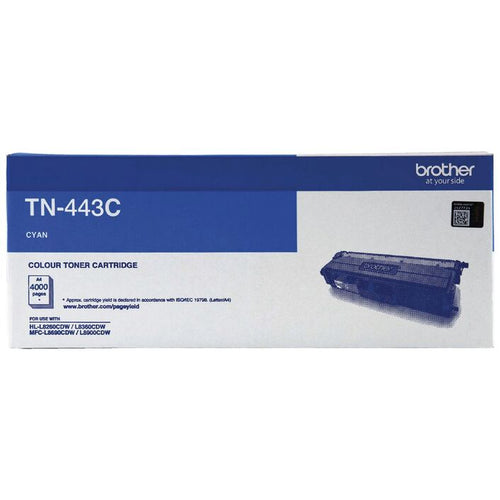 Genuine TN443 cyan toner cartridge