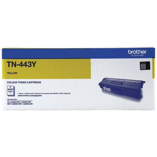Genuine TN443 yellow toner cartridge