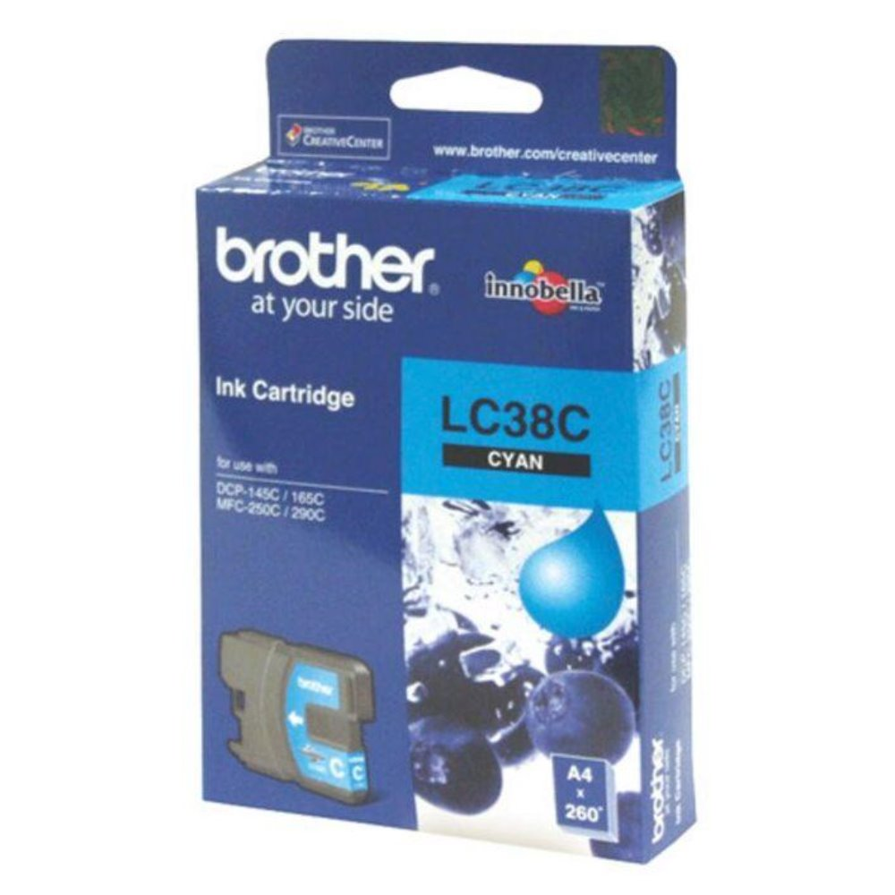 LC38 Brother genuine cyan ink