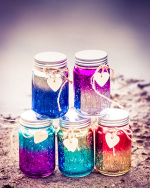 Sparkle Jar - Red & Gold Ombre