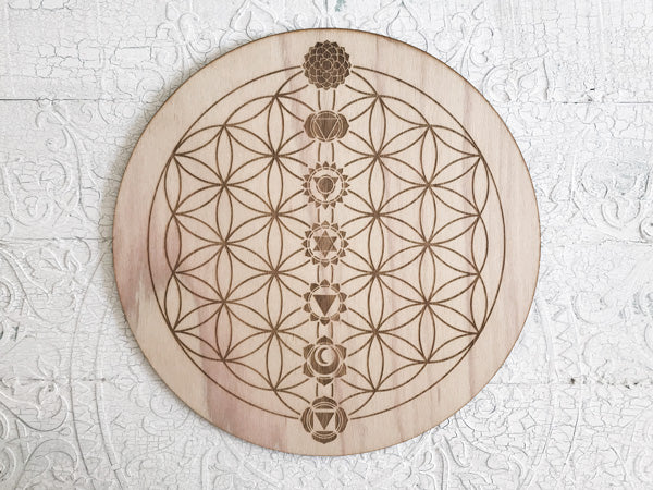 Crystal Energy Grid - Chakra Balance - Flower of Life