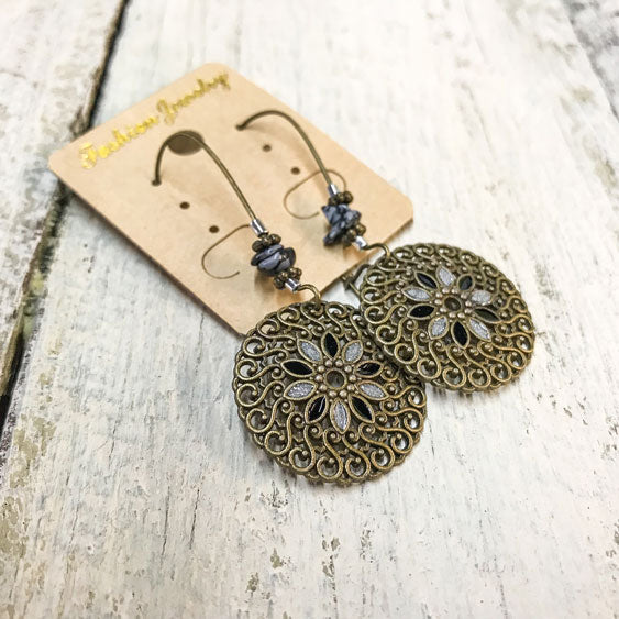 Boho Flower Mandala Earrings